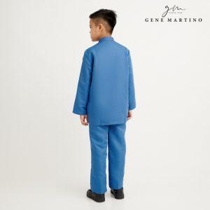 Gene Martino Aleef Baju Melayu Modern XA1020FA1 76 Steel Blue