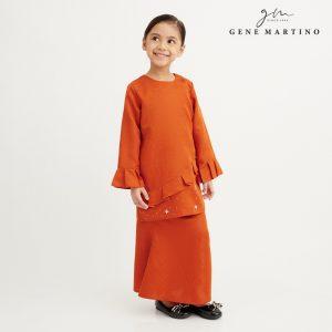 Gene Martino Aleeyana Kurung Modern Sempit EA1020FA1 46 Orange Tangerine