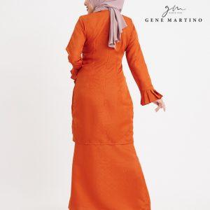 Gene Martino Aleeyana Kurung Modern Sempit GA1020FA1 46 Orange Tangerine