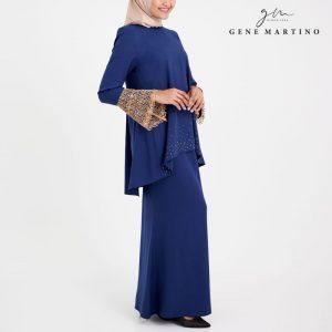 Gene Martino Baju Kurung Modern Sempit 3014 Navy Blue
