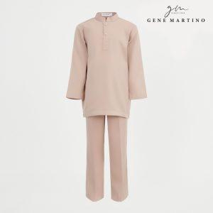 Gene Martino Shakir Baju Melayu Slim Fit KJA1065FA 42 Light Brown