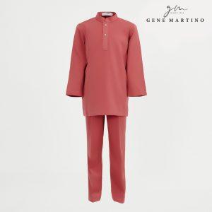 Gene Martino Shakir Baju Melayu Slim Fit KJA1065FA 45 Red Clay