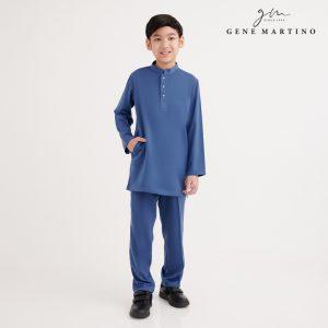 Gene Martino Shakir Baju Melayu Slim Fit KJA1065FA 75 Royal Blue