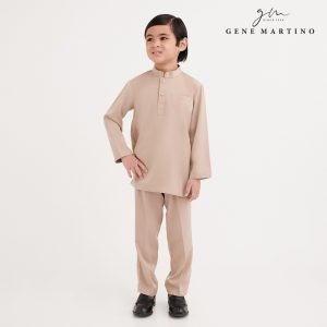 Gene Martino Shakir Baju Melayu Slim Fit KKA1065FA 42 Light Brown