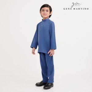 Gene Martino Shakir Baju Melayu Slim Fit KKA1065FA 75 Royal Blue