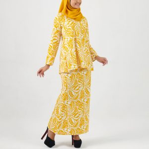 Kurung Modern 038 Mustard Yellow