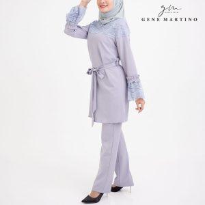 Amedea Ribbon Tunic and Pants 542 Lilac Purple