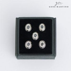 Gene Martino Ellipse Shape Button ADM1102 99 Black
