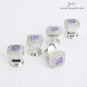 Gene Martino Octagon Shape Button ADM1103 65 Forgotten Purple