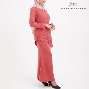 Shakirah Kurung Modern 8022 Coral Pink
