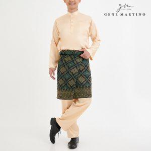 Baju Melayu Satin Classic Fit Cream Parchment