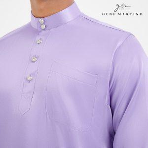 Baju Melayu Satin Classic Fit Wisteria Purple