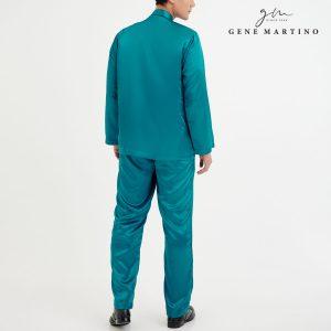 Baju Melayu Satin Classic Fit Pine Green