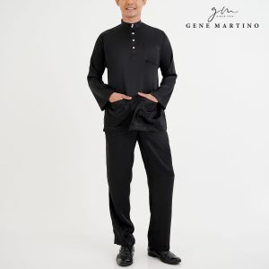 Baju Melayu Satin Classic Fit Black