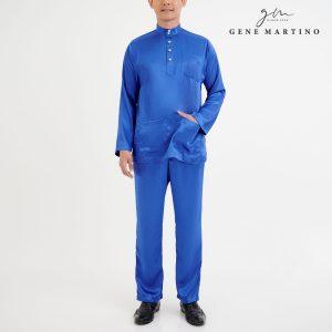 Baju Melayu Satin Classic Fit Electric Blue