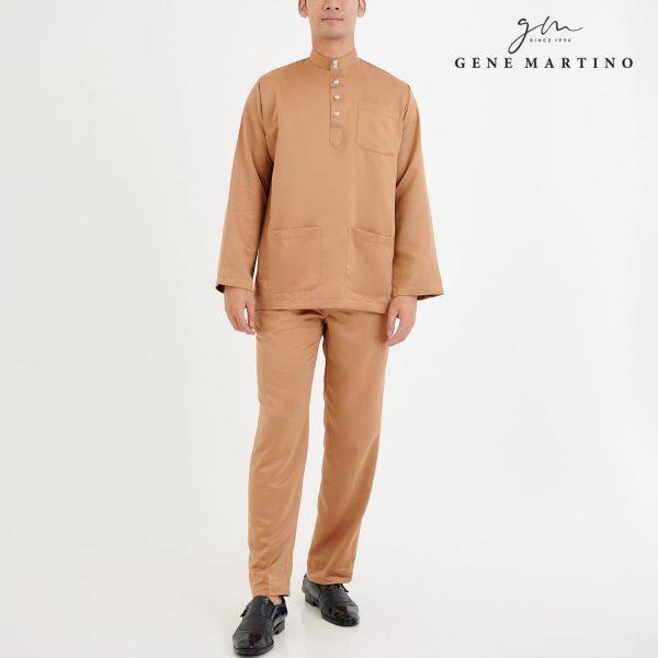 Baju Melayu Premium Dull Satin Classic Fit Tan Beige