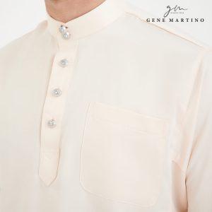 Baju Melayu Premium Dull Satin Classic Fit Linen Solid