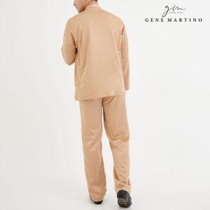 Baju Melayu Premium Dull Satin Classic Fit Light Camel Beige