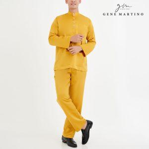 Baju Melayu Premium Dull Satin Classic Fit Canary Yellow