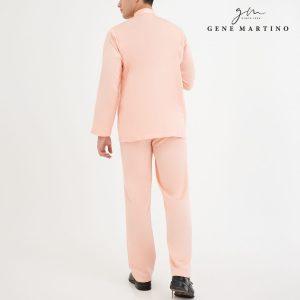 Baju Melayu Premium Dull Satin Classic Fit Light Peach