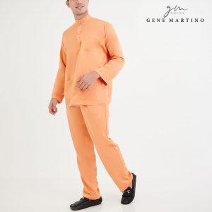 Baju Melayu Premium Dull Satin Classic Fit Light Apricot