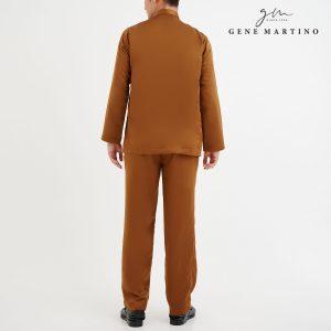 Baju Melayu Premium Dull Satin Classic Fit Ochre Brown