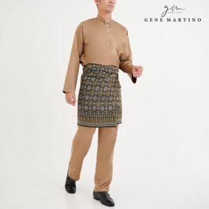Baju Melayu Premium Dull Satin Classic Fit Duron latte