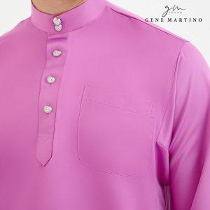 Baju Melayu Premium Dull Satin Classic Fit Taffy Pink
