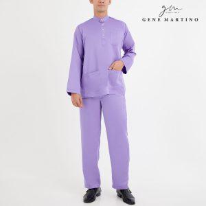 Baju Melayu Premium Dull Satin Classic Fit Wisteria Purple