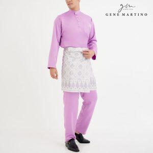 Baju Melayu Premium Dull Satin Classic Fit Lilac Purple
