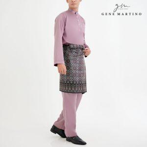 Baju Melayu Premium Dull Satin Classic Fit Dusty Lilac