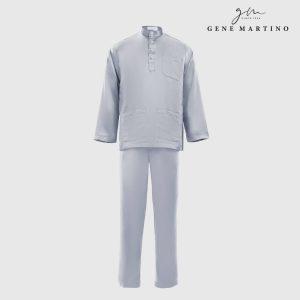Baju Melayu Premium Dull Satin Classic Fit Light Slate Blue