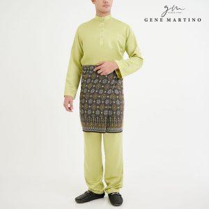 Baju Melayu Premium Dull Satin Classic Fit Yellow Iris