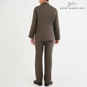 Baju Melayu Premium Dull Satin Classic Fit Dark Taupe Grey