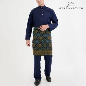 Baju Melayu Premium Dull Satin Classic Fit Dark Blue