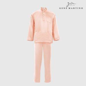 Baju Melayu Satin Classic Fit Light Peach