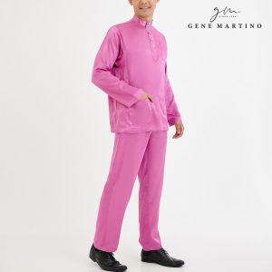 Baju Melayu Satin Classic Fit Pink