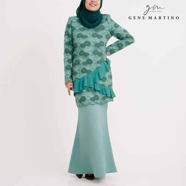 Gene Martion Mirzah Kurung Modern Sempit GA1066FA1 84 Dusty Green