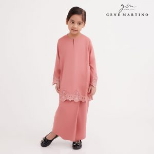 Gene Martino Ezzah Kurung Pahang DA1049FA 53A Dusty Rose Pink - 1