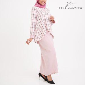 Gene Martino Abriana Checker Kurung Modern 3041 Soft Pink