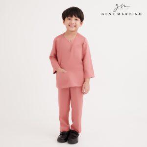 Gene Martino Eshan Baju Johor Modern Fit VA1049FA 53A Dusty Rose Pink
