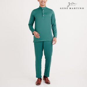 Gene Martino Atif Baju Melayu Slim Fit MA0052FA 85 Emerald Green