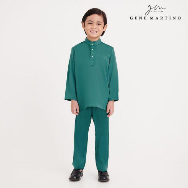 Gene Martino Atif Baju Melayu Slim Fit UA0052FA 85 Emerald Green
