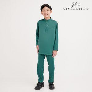 Gene Martino Atif Baju Melayu Slim Fit XA0052FA 85 Emerald Green