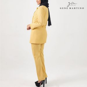 Gene Martino Clasrissa One Suits Blazer BLA545PS 18 Pale Mustard Yellow