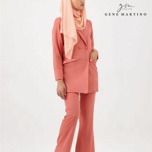 Gene Martino Clasrissa One Suits Blazer BLA545PS 54 Salmon Pink