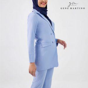 Gene Martino Clasrissa One Suits Blazer BLA545PS 72 Cornflower Blue
