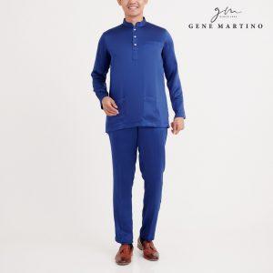 Gene Martino Dhani Baju Melayu Slim Fit MA1060FA 79 Royal Blue