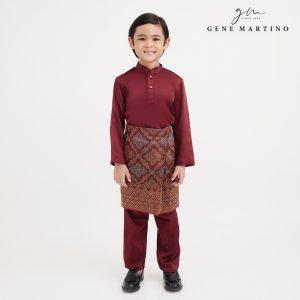 Gene Martino Dhani Baju Melayu Slim Fit UA1060FA 59 Marron