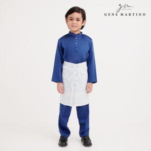 Gene Martino Dhani Baju Melayu Slim Fit UA1060FA 79 Royal Blue